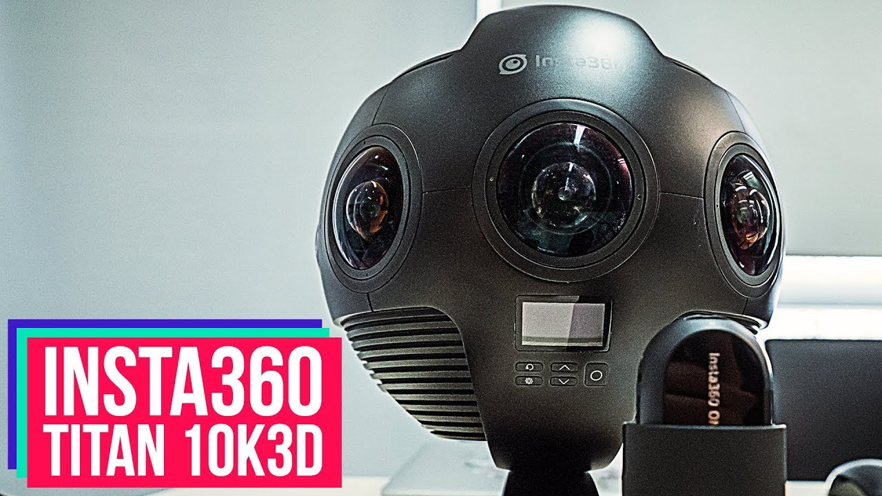 Insta360 Titan 10K 60fps 3D Stereo 360 VR Camera Exclusive First Look