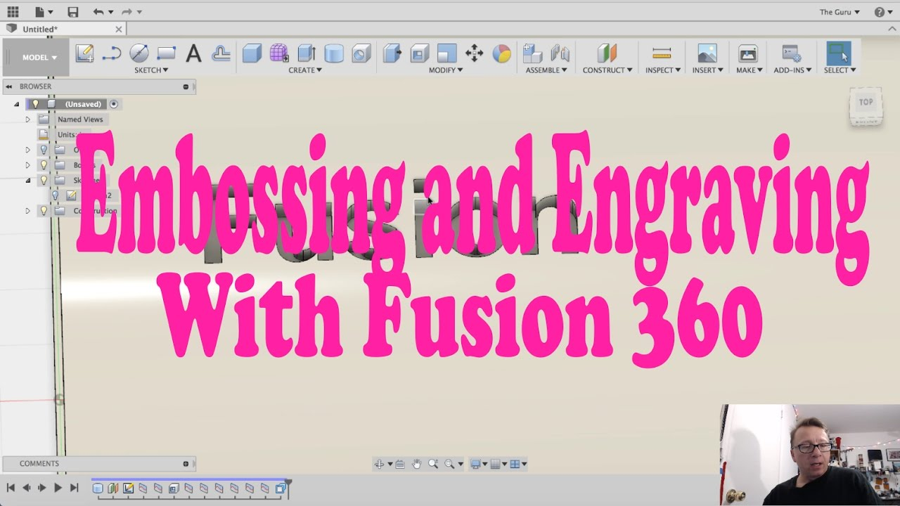 Embossing and Engraving with Fusion 360