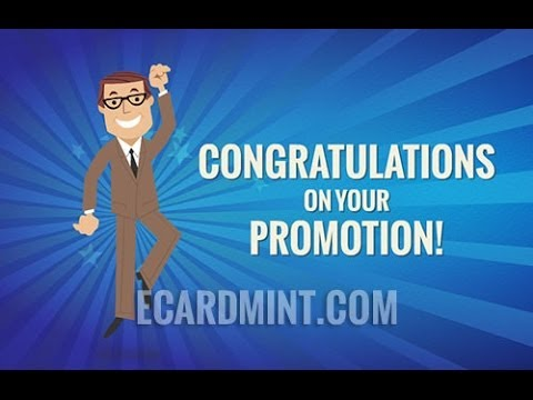 Congratulations On Your Promotion Business Ecard YouTube
