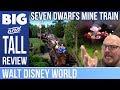 """Big and Tall: Seven Dwarfs Mine Train - Worth the 2 hour wait at 6'8""""?"""