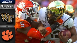 Wake Forest vs. Clemson Full Game | 2019 ACC Football