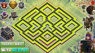 NEW TOWN HALL 9 TROPHY BASE 2018 WITH REPLAY PROOF | TH9 BASE DESIGN - CLASH OF CLANS