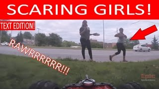 henry the fpv rc car creeps out and follows two girls on the bike path filmed with gopro