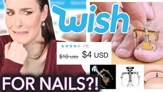 Testing Nail Products from Wish Nails Remove Toes Hollow Nail Polish Peel-off Nails Wish Buy Now