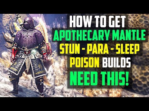 How To Get the Apothecary Mantle! Paralyze, Stun, Sleep + Poison Builds Need This! Monster Hunter