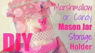 Diy Desk Decor - Pink Marshmallow Candy Mason Jar Storage Holder
