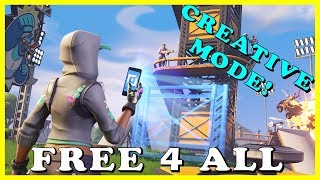 "FORTNITE CREATIVE MODE *FREE 4 ALL* - NEW ""KRAMPUS"" SKIN in FORTNITE // Playing With SUBSCRIBERS"