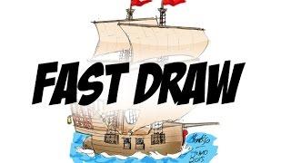FAST DRAW - Desenhando um Navio Pirata!