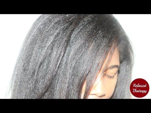 [77] How To Trim Transitioning To Natural Hair [Dusting Relaxed Ends]