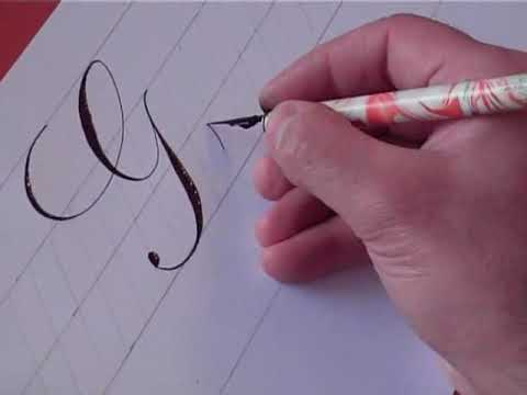 How to Write Copperplate (The Letters G and g)