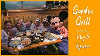 Garden Grill Character Meal | 21st Birthday Vlog & Review Food Character Dining Walt Disney World