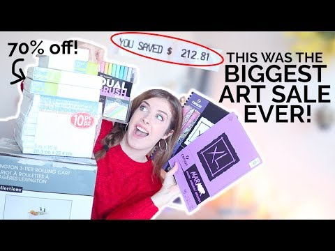 I'VE NEVER BOUGHT THIS MANY ART SUPPLIES!