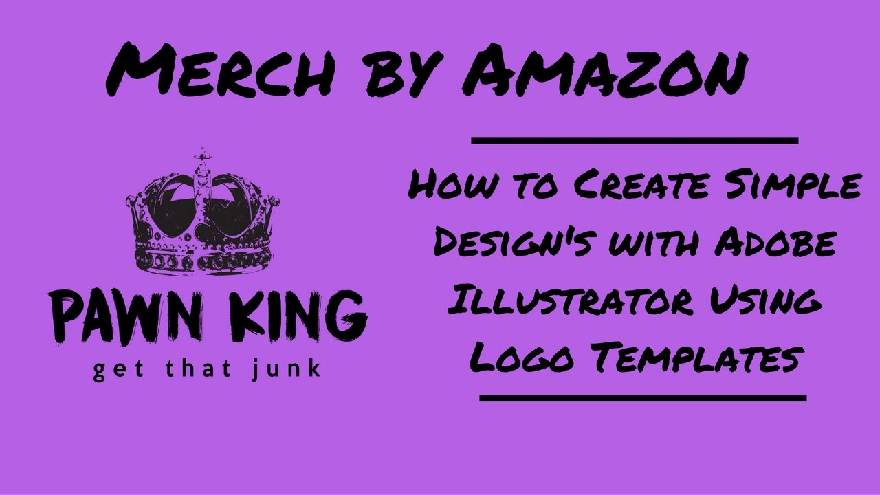 Merch by amazon how to create simple designs with adobe merch by amazon how to create simple designs with adobe illustrator using logo templates pronofoot35fo Choice Image
