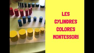 Cylindres Colorés Montessori