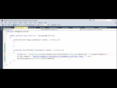 ASP NET - MailTo -Code behind example with body that has link to some html page with question mark