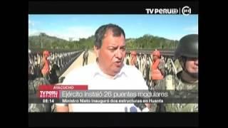 MINDEF INAUGURA PUENTES MODULARES EN AYACUCHO TV PERU