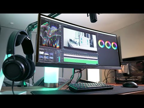 My Ultrawide Gaming & Editing Setup! (2018)