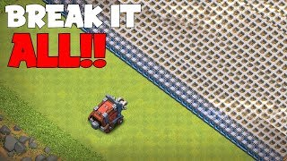 WALL WRECKER VS. ALL WALLS!! 'Clash Of Clans' SIEGE TROLL BOX