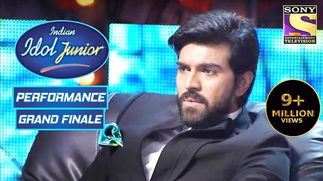 Download Ram Charan Is Shocked With Sugandha's Voice   Indian Idol Junior   Grand Finale