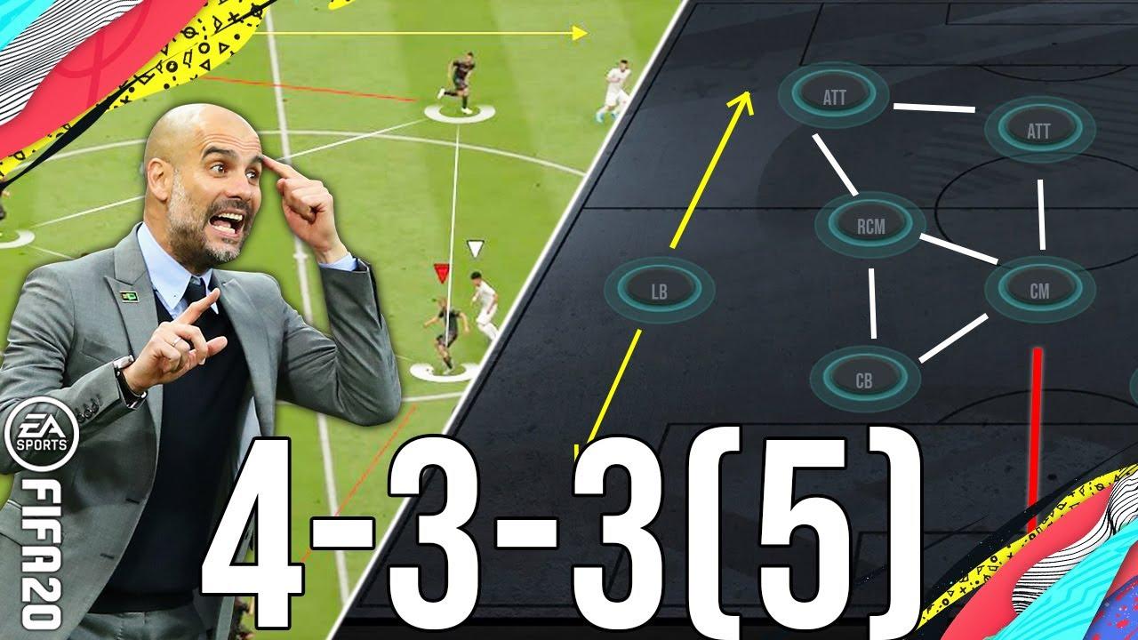 FIFA 20 - Best Tactics For Tiki-Taka (TACTICS) for the 433(5)/False 9