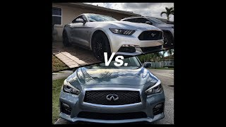 Infiniti Redsport 400(Stock) vs Ford Mustang GT(Stock)