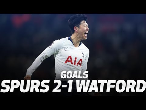 HEUNG-MIN SON AND FERNANDO LLORENTE GOALS | Spurs 2-1 Watford
