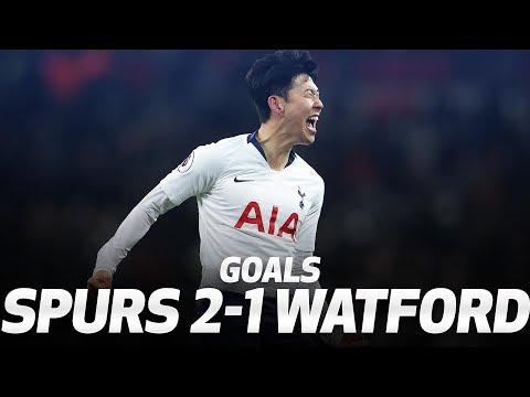 HEUNG-MIN SON AND FERNANDO LLORENTE GOALS | Spurs 2-1 Watford