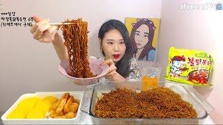 신제품 짜장불닭볶음면 먹방 吃播 Mukbang eating show 180315