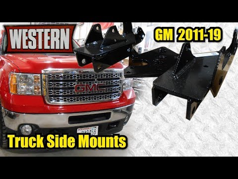 2013 GMC 2500HD   Western Plow   Truck Side Mounts