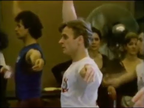 Mikhail Baryshnikov taking class with the National Ballet of Canada