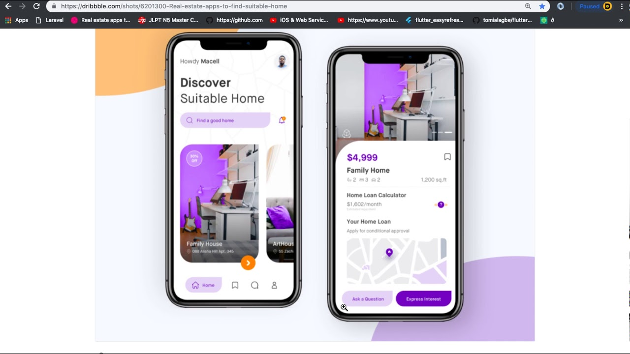 flutter ui challenge part3 real estate app