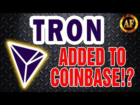 TRON (TRX) Added to COINBASE!? - CAN TRX HIT 100$ - TRX MOONSHOT!