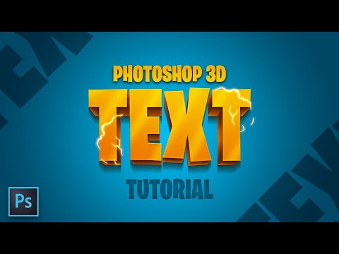 How To Make 3D Text In Photoshop (EASY!!) - Tutorial By EdwardDZN