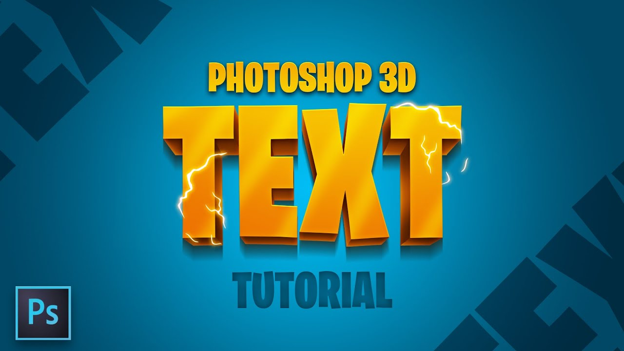 How to Make 12D Text in Photoshop (EASY!!) - Tutorial by EdwardDZN