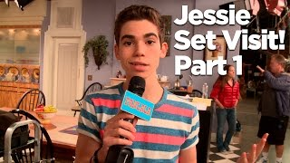 "Behind The Scenes of the ""Jessie"" Set with Cameron Boyce! Part 1"