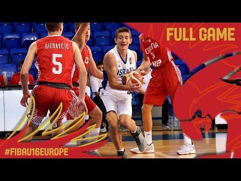 Israel v Croatia - Full Game - FIBA U16 European Championship 2017