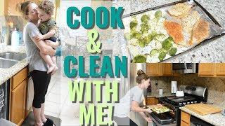 Cook And Clean With Me | Working Mom Night Time Routine | Easy Weeknight Meal Idea