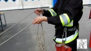 Закрепление спасательной веревки за конструкцию 4 способ