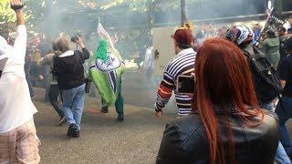 Battle of Portland EPIC Street Clash Antifa vs Proud Boys