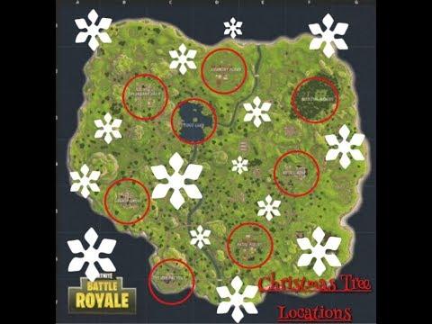 Fortnite Christmas Tree Locations.All 8 Christmas Tree Locations Fortnite