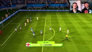 """FIFA 2014 World Cup gameplay 1° ITA """"Il nostro mondiale ha inizio! Italia-Inghilterra!"""" HD 720p"""