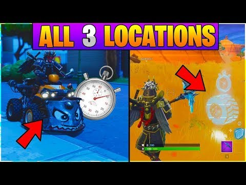 All Vehicle Time Trials Locations, All 3 Locations (Fortnite Battle Royal Season 6)