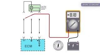 Fuel Rail Pressure Sensor Signal Voltage Low Pull Down Type