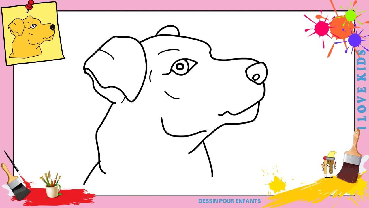 Comment dessiner un chien face 4 facilement etape par etape youtube - Dessiner des animaux facilement ...