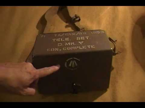 WW2 Combat Feild Phone Allied Canadian Radio Communication Army Normandy Juno Omaha D-Day
