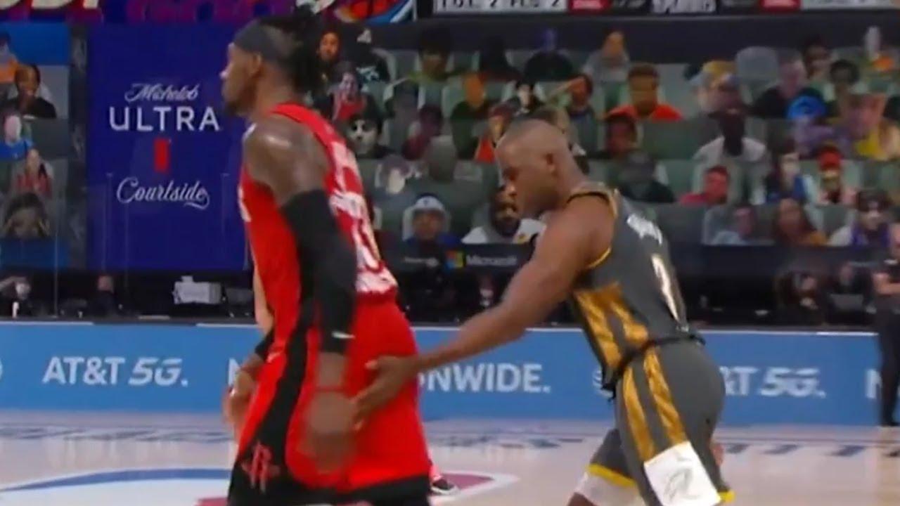 Chris Paul knocks down the tough 3, then has a pat for Robert Covington | Game 6 | Thunder-Rockets