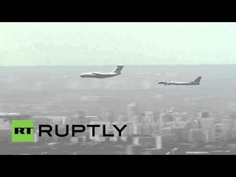 Russia: A massive 143 military aircrafts fill Moscow's skyline in final V-Day rehearsal