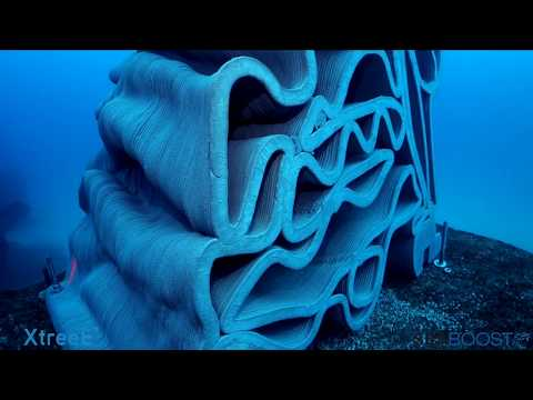 Large scale 3D-printed artificial reefs to restore coral ecosystems