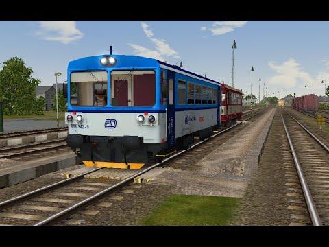 Microsoft Train Simulator - trať ČR 310   Os 13463 Kravaře ve Slezsku - Chuchelná   s Honzou ...