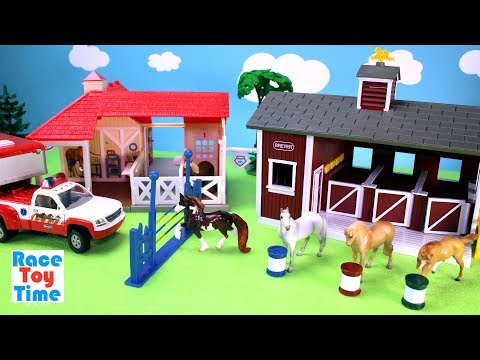 Thumbnail: Horse Stable Barn and Animal Rescue Breyer Playset - Toy Animals Video For Kids